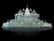 Akshardham Temple made of Crystal