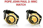 POPE JOHN PAUL II – GENTLEMEN'S GOLD MMC LIMITED EDITION WATCH