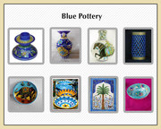 Blue pottery manufacturer and supplier in India