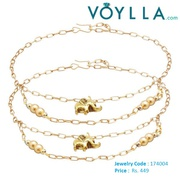 Wear Yellow Gold Tone Anklets to Enhance the Beauty of your Feet