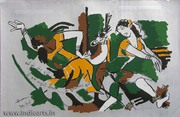 M F Husain Paintings